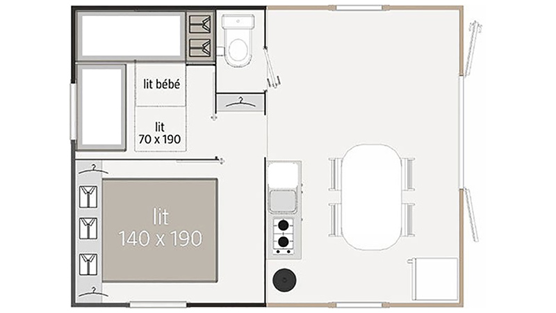 Plan Mobil-home Abélia