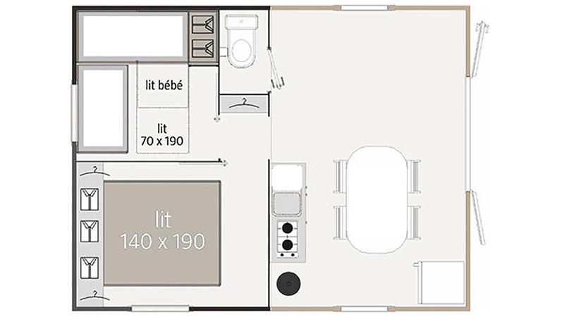 Plan Mobil-home Althéa