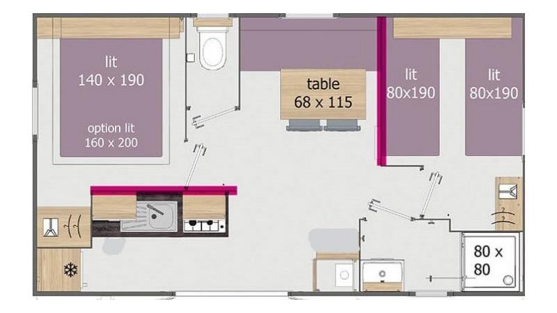Plan du Mobil-home Corylus