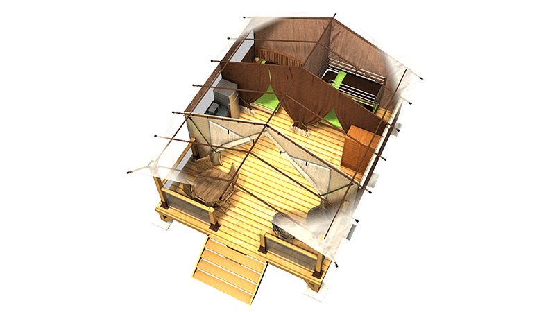 Plan 3D - Lodge Tilia