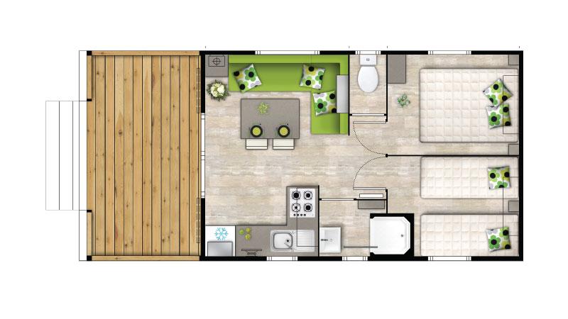 Plan  Mobil-home Rubia